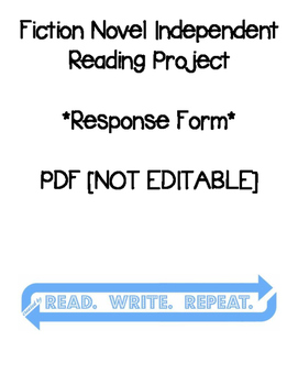 Fiction Independent Reading Project [FORM]: PDF