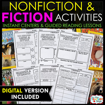 Fiction and Nonfiction Reading Centers - Graphic Organizers for Reading