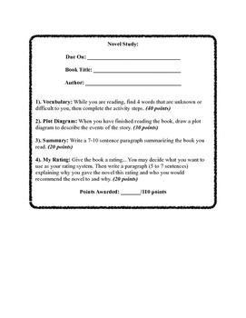 Fiction Novel Study #2