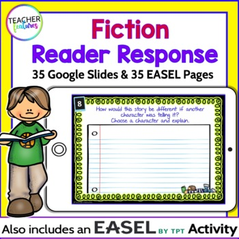 Google Classroom Reading Response Task Cards (Fiction)