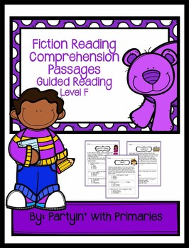Fiction Reading Comprehension Passages: Guided Reading Level F