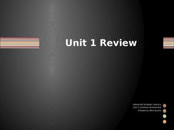 Fiction Unit Review Game