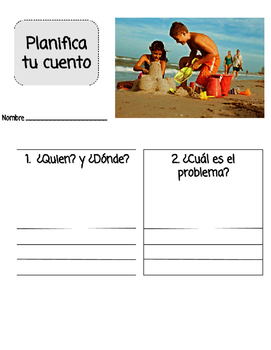 Fiction Writing (Planning) Sheet in Spanish