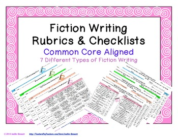 Fiction Writing Rubrics & Checklists - Common Core Aligned