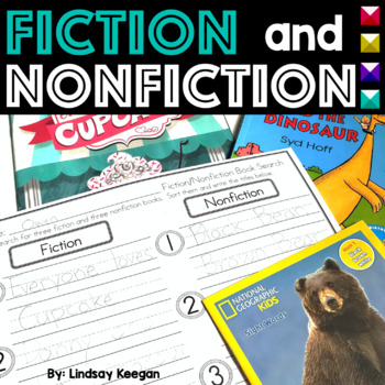Fiction and Nonfiction Activities- Pocket Chart Sort, Read