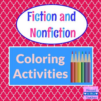 Fiction and Nonfiction Coloring Pages