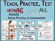 FICTION AND NONFICTION TEACH, PRACTICE, TEST GROWING BUNDLE