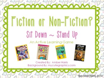 Fiction or Non-Fiction Sit Down Stand Up Active Learning Game