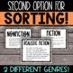 Fiction or Nonfiction? - A Book Title Sort