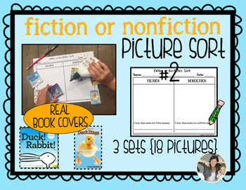Fiction or Nonfiction Picture Sort 2 {Real Book Covers}
