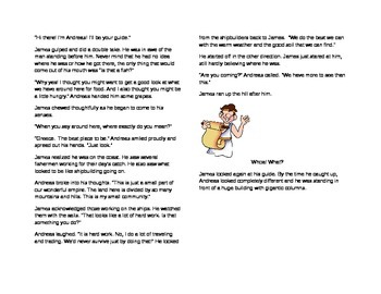 Fiction story to support Ancient Greece.
