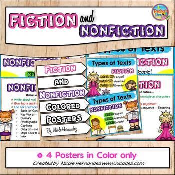 Fiction vs Nonfiction Posters