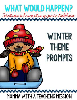 Fictional Writing Printables Winter Theme