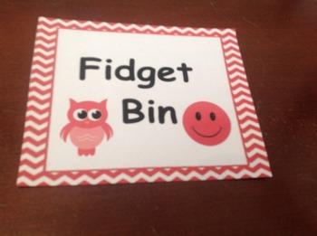 Fidget Bin Label