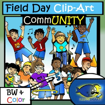 Field Day 16pc. Clip-Art Set ( 8 BW and 8 Color)