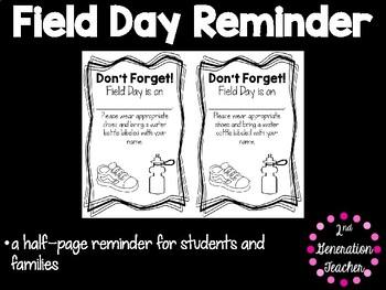 Field Day Reminder