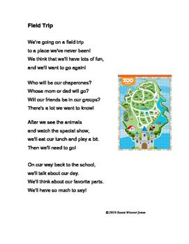 "Fluency, Phonics, and Fun through Poetry # 9 (""Field Trip"")"