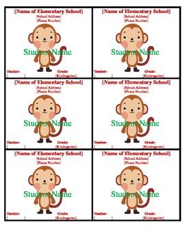 Field Trip Badges Monkey