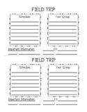 Field Trip Chaperone Form