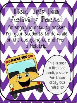 Field Trip Fun Activity Packet