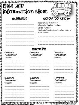Field Trip Info Sheet