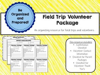 Field Trip Organization Package - Editable Digital Form +