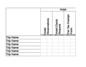 Field Trip Paperwork Organizer
