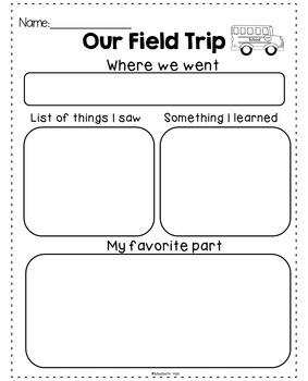 Field Trip Reflection {Freebie}