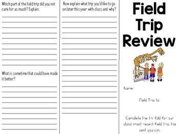 Field Trip Tri-fold