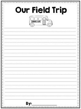 Field Trip Writing Paper
