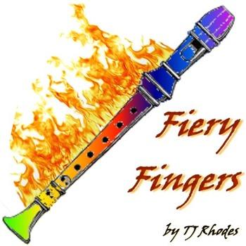 Fiery Fingers - Recorder Karate Fingering Chart Playalong