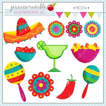 Fiesta Cute Digital Clipart, Cinco de Mayo Clip Art, Marac