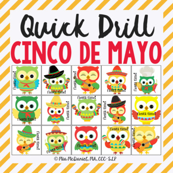 Fiesta Time Quick Drill {for articulation or fluency thera