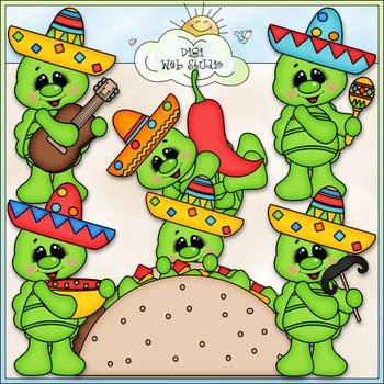 Fiesta Turtles Clip Art - Mexico Clip Art - Cinco de Mayo