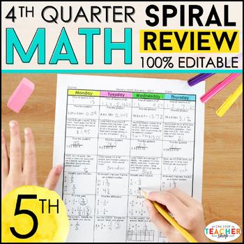 5th Grade Math Homework 5th Grade Morning Work for 4th Qua