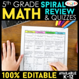 5th Grade Math Homework   5th Grade Morning Work ENTIRE YE
