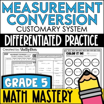Measurement Conversion - Customary System (5th Grade Commo