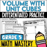 Volume of Unit Cubes (5th Grade Common Core Math: 5.MD.3 a