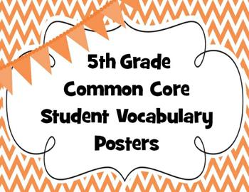 Fifth Grade Common Core Math Vocabulary
