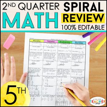 5th Grade Math Homework 5th Grade Morning Work for 2nd Qua