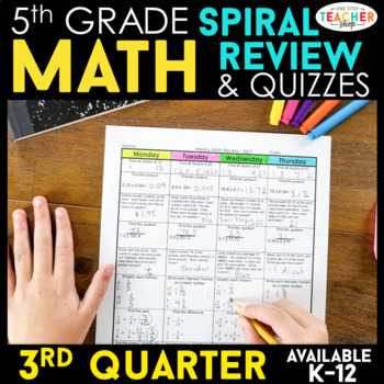 5th Grade Math Homework or 5th Grade Morning Work for 3rd