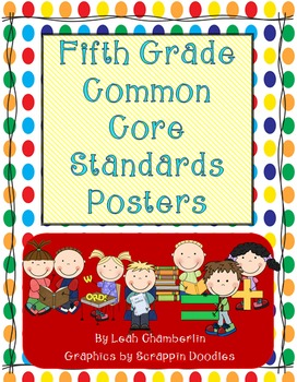 Fifth Grade Common Core Standards and Posters