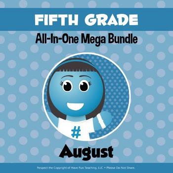 Fifth Grade Curriculum Bundle (AUGUST)