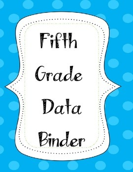 Fifth Grade Data Binder Label