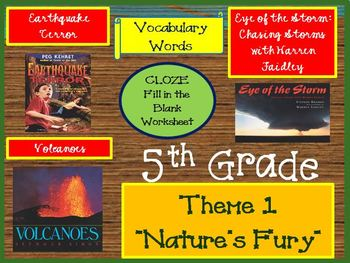 Houghton Mifflin 5th Grade Theme 1 Cloze Worksheets
