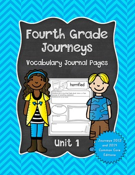 Fourth Grade Journeys Vocabulary Journal Pages Unit 1 Prin