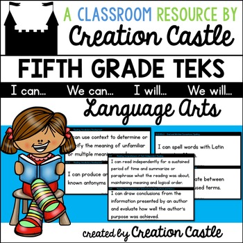 Fifth Grade Language Arts TEKS - Can and Will Standards St