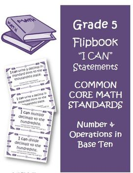 Fifth Grade Math Common Core Number and Operations Base Te