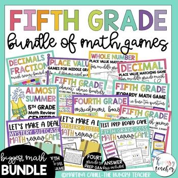 Fifth Grade Math Games {HUGE} Bundle of Resources