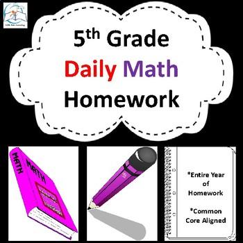 Fifth Grade Math Homework {Entire Year}